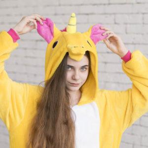 Кигуруми Желтый единорог