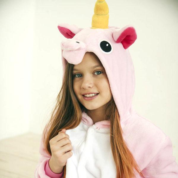 Кигуруми детский Розовый единорог