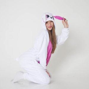 Кигуруми Розовый Зайка
